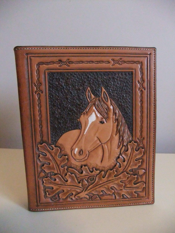 beautiful tooled leather photo album. Black Bedroom Furniture Sets. Home Design Ideas