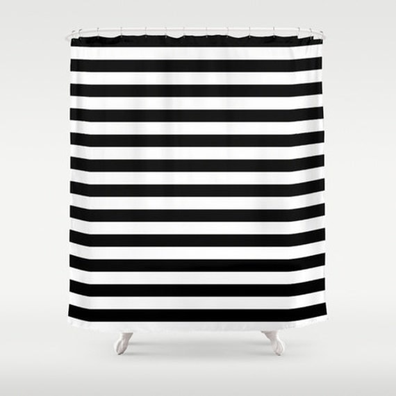 Shower Curtain Black And White Striped Shower Curtain Black