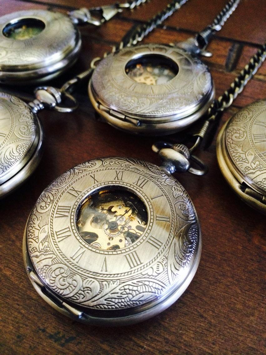5 groomsmen pocket by pocketwatchkeepsakes