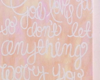 Hand Painted Scripture Canvas -featuring Daniel 10:19 with Customizable Colors and Scriptures