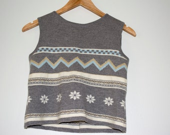 Snowy Christmas Sweater Crop Top