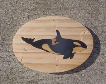 Handmade Killer Whale Wooden Jigsaw Puzzle