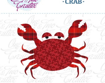 Crab Fabric APPLIQUE TEMPLATE Only PDF - Instant Download - Permission to Sell Finished Items