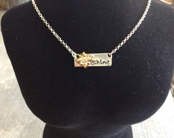 Silver Shine Bar Necklace