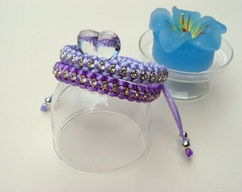 Spring colours friendship bracelets with swarovski crystals