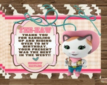 Sheriff Callie Thank You Cards Invitation