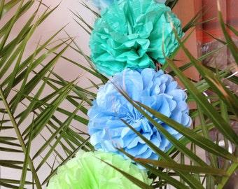 5 Tissue Paper Pom Pom Bridal Shower Decor Pompom Paper Flowers Tissue Pom Poms Tissue Paper Flowers Tissue Pom Pom Wedding Ceremony Decor