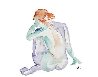 Watercolor Woman 02