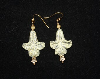 Renewable Being - Carved Lilly Russian Jade Earrings