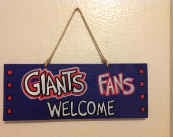 New York Giants Welcome Sign