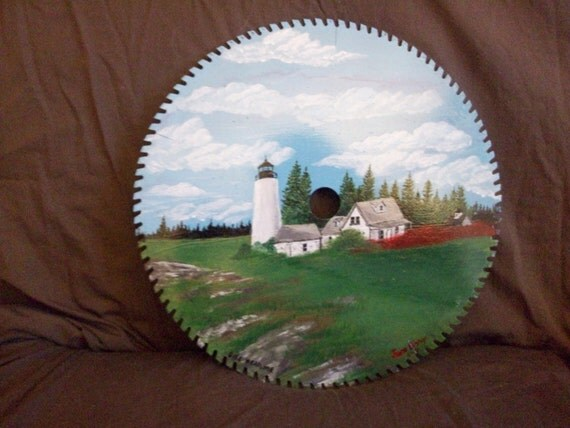 Circular saw blade painting - Silhouette Arts by JE