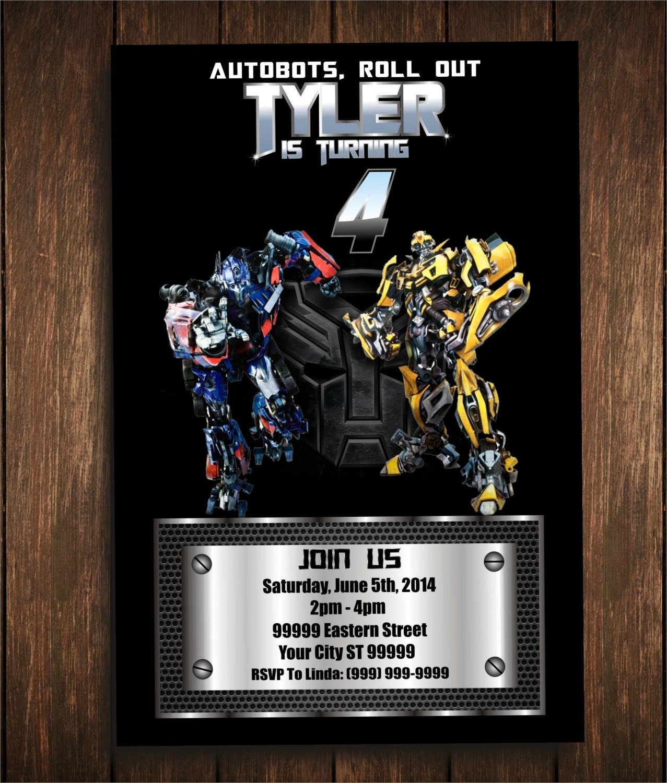 Transformers Digital Birthday Invitation by ssscreativedesigns