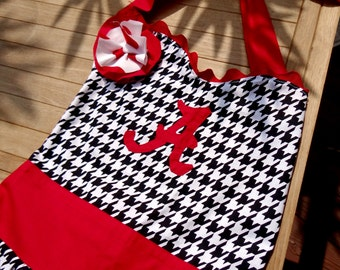 Alabama Crimson Tide Houndstooth Apron, Crimson Tide Tailgating Apron, Alabama Kitchen Apron, SEC Cooking Apron
