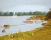 Original Pastel Drawing: Garden View II