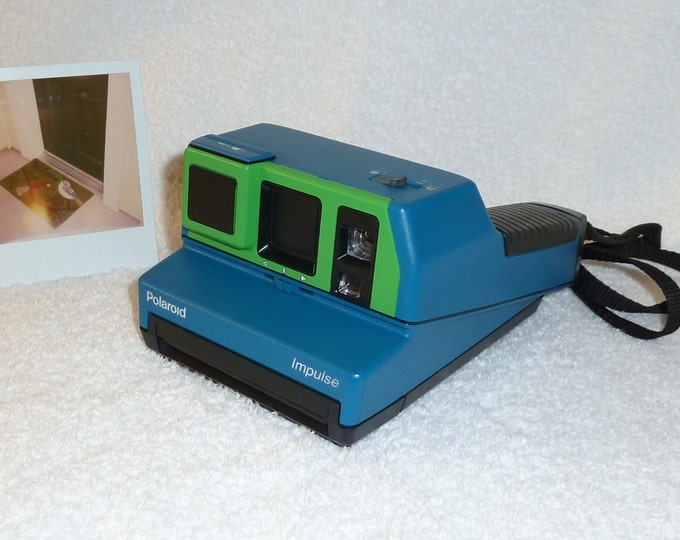 Vintage Polaroid Impulse With Close Up and Fun Upcycled Green