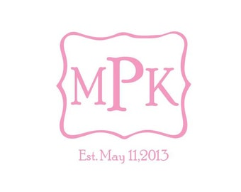 Custom monogram design created to your specifications.