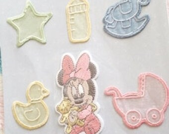 Embroidered Wappen Baby Minnie Disney Japan Iron applique KOKKA