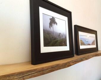 Live edge wooden shelf