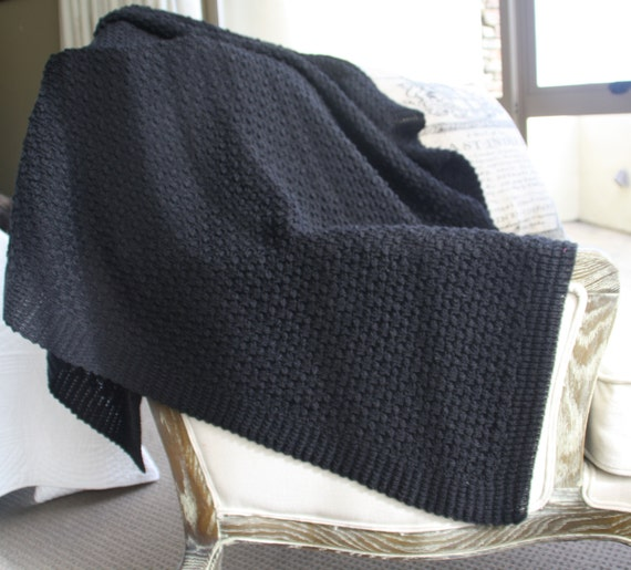 Throw Rug Knitting Patterns : Knitted Throw Rug / Afghan Blanket Made in New Zealand