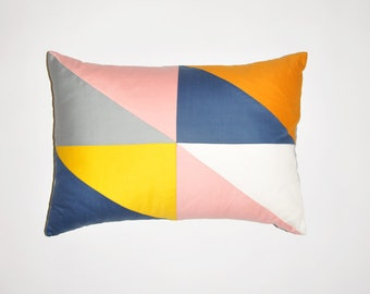 GEORGIA,  geometric  patchwork cushion