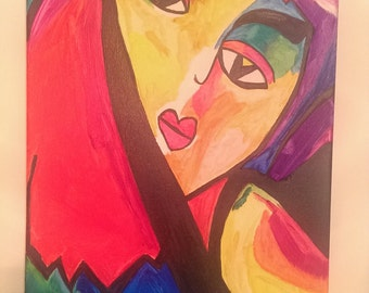 """Glow Girl"""" Painting - 12in x 16in canvas"""