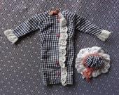 Vintage Francie Side Kick Dress and Hat Set