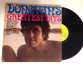 20% OFF SALE Donovans Greatest Hits Pop Rock Vinyl Record Sunshine Superman