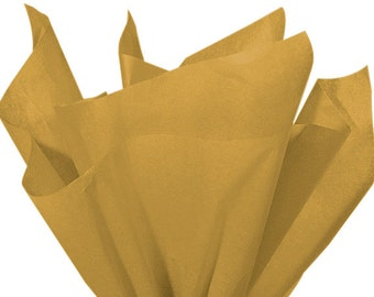 ANTIQUE GOLD Tissue Paper 24 Sheets Premium Tissue Paper for Craft Projects, Gift Wrapping, and DIY