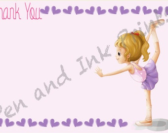 INSTANT DOWNLOAD Gymnastics Thank You Notes