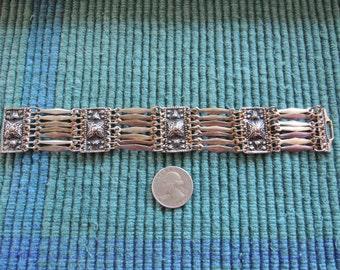 Multi Linked Bracelet with Rectangular shaped Panels