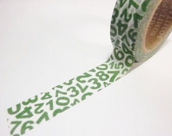 Washi Tape -  numbers (10M) P78
