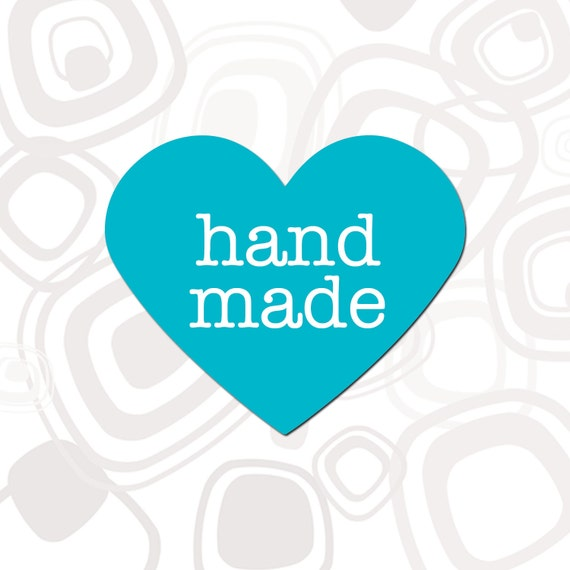 Heart Hand Made Label