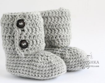 Beautiful handmade crochet baby boots with buttons. Acrylic and wool blend. Warm shoes.Made to order. Girl shoes. Boy shoes. Crochet booties