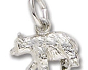Sterling Silver Small Black Bear Charm by Rembrandt