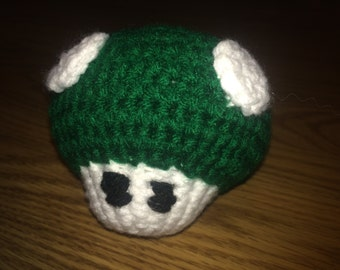 Amigurumi Mario Brothers 1-Up Plush Toy