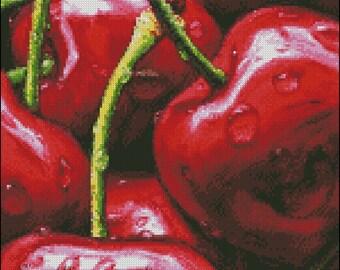 """Cross stitch pattern PDF """"Cherry"""""""