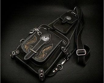 Leather Backpack, Shoulder Bag  K05D04