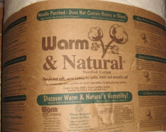 "90"" wide Warm & Natural Cotton Batting, Quilt Batting, Quilting SOLD By The YARD  9500"
