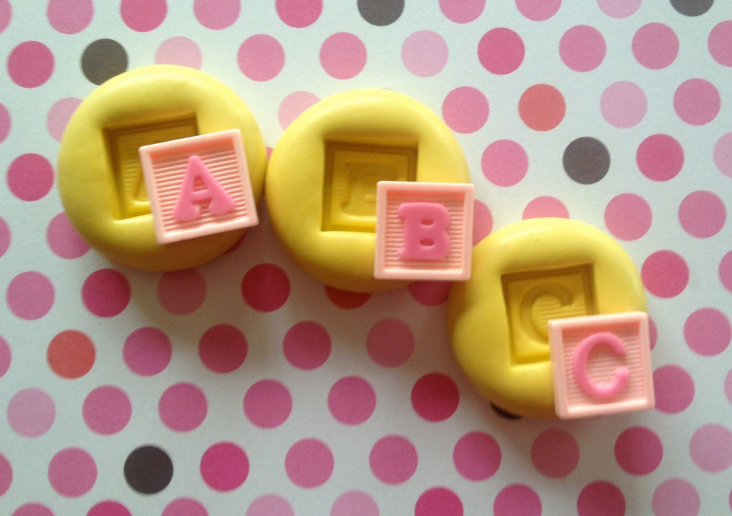 A b c letters baby block silicone mold resin a b c block for Alphabet blocks cake decoration