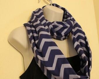 Purple and light purple chevron infinity scarf