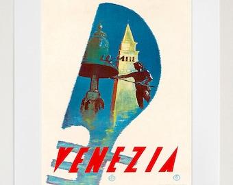 Travel Poster Venice Art Print Italy Vintage Italian Home Decor (TR133)