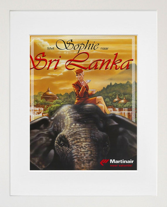 Travel Art Sri Lanka Print Poster Vintage Home Decor Xr102