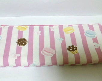 Kawaii Sweets Pink Pouch with polka dots (interior)