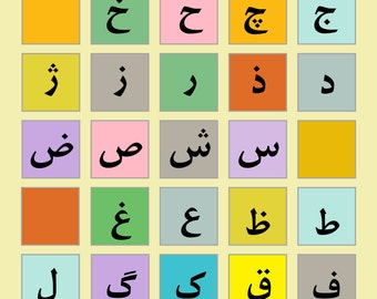 Persian (Farsi) Alphabet Chart Poster