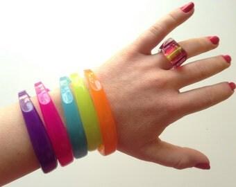 Retro Neon Toothbrush Bracelets