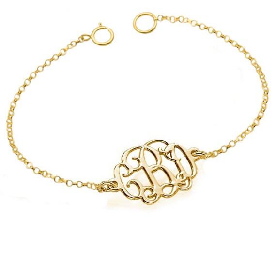 monogramme de bracelet demoiselle d 39 honneur par etsy le fait main. Black Bedroom Furniture Sets. Home Design Ideas