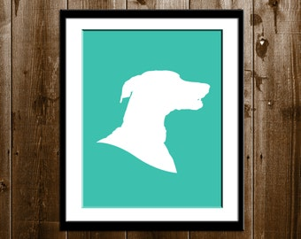 1 Traditional Pet Silhouette Portrait, Pet Profile Silhouette, Custom Pet Bust Silhouette, Family Pet Portrait from your photo
