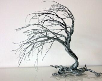 Custom made-Wire art Windswept tree
