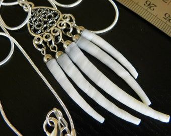 Dentalium shell  handmade necklace  Indian style for good luck