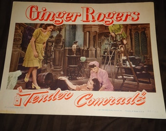 Original 1944 Tender Comrade Lobby Card Movie Poster Ginger Rogers
